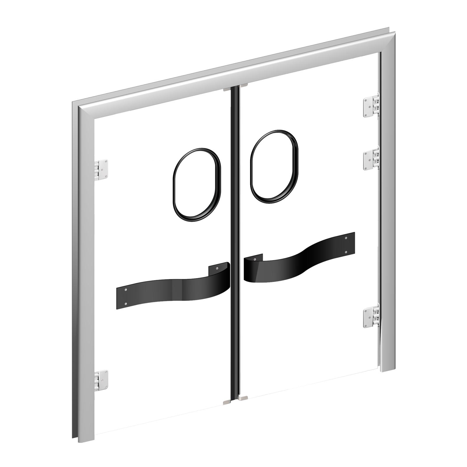 Porte industriali scorrevoli pluripanel alta qualit per porte va e vieni - Porte va e vieni per interni ...